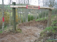 Entrance to Winn Wood and new path.