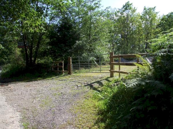 Shared road entrance off Hazelrigg Lane