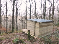 Useful forestry shelter with views over the land