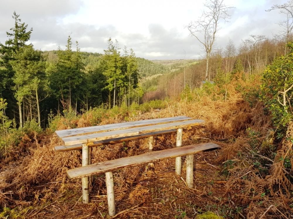 Private bench with stunning views