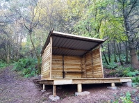 A useful shelter for storing tools and equipment
