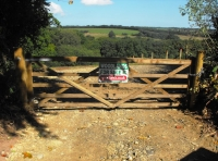 Entrance gate to meadow area