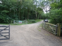 Access gates from Sandy lane