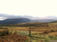 Surrounding countryside & cloud topped Schiehallion nr.