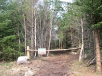 Ridestop entrance into the wood