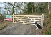 Main gated entrance to Glasallt-fawr Woods