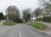 Road view coming from Usk (turning on right)