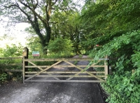 Main gate into Drim wood