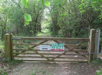 Main entrance to the woodland.