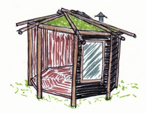 A wooden summerhouse - design and construction.