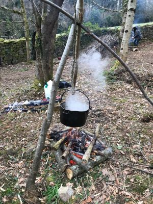 Bushcraft and survival skills at the Ultimate Activity Company, near Hereford