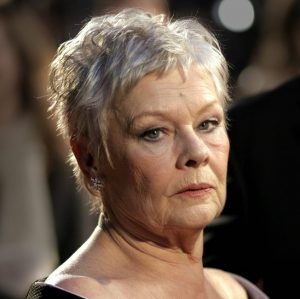 Actress Dame Judi Dench arrives at The Orange British