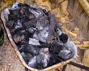 charcoal-lumps