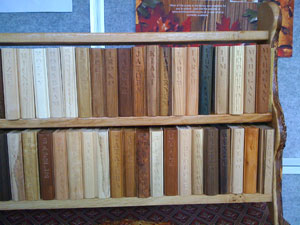 Wooden Books for a Wood Library