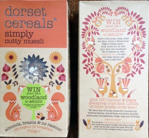 "'Dorset Cereals' running ""Win Your Own Woodland"" competition."