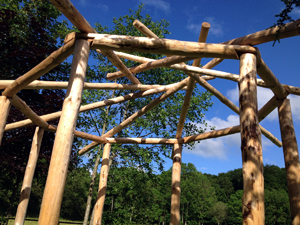 A Wooden Summerhouse - Part 2: The Reciprocal Roof