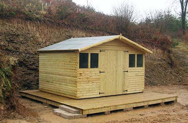 """a 'flat-pack' shed, the whole project took 3 days"""
