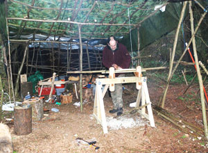 Woodland Shelter Build.