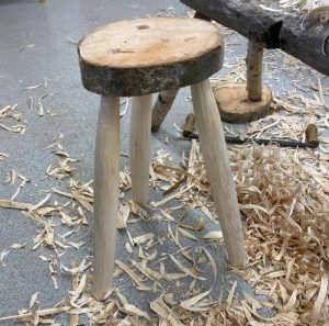 Making a stool from green ash at the Sylva Wood Centre