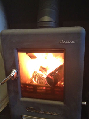 Installing a woodburning stove for logs