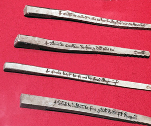tally sticks mediaeval